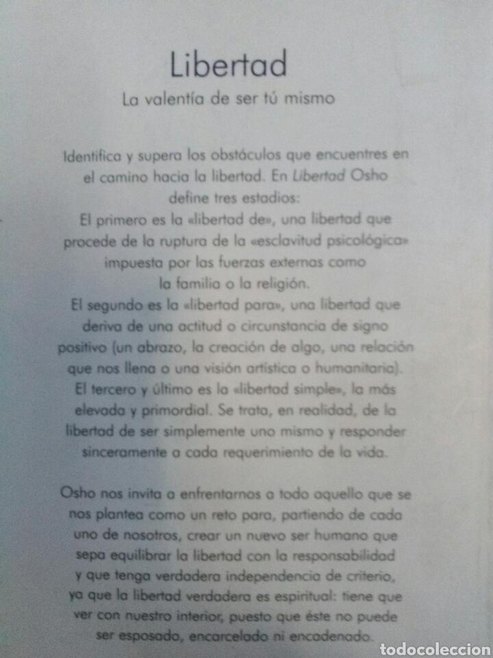 Libros de segunda mano: OSHO. Libertad. - Foto 2 - 159776552