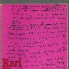 Libros de segunda mano: KARL MARX. MANUSCRITOS ECONOMIA Y FILOSOFIA. ALIANZA. Lote 159890128
