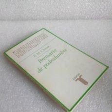 Libros de segunda mano: E. M. CIORAN - BREVIARIO DE PODREDUMBRE - TAURUS 1981 SIN LEER. Lote 160236202