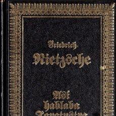 Libros de segunda mano: ASÍ HABLABA ZARATUSTRA (FRIEDRICH NIETZSCHE). Lote 157981094