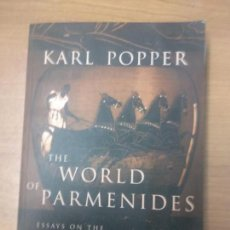 Libros de segunda mano: KARL POPPER - WORLD OF PARMENIDES. Lote 160541822