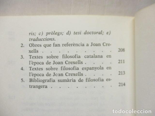 Libros de segunda mano: JOAN CREXELLS EN LA FILOSOFIA DEL NOUCENTS NORBERT BILBENY - Foto 12 - 160940894