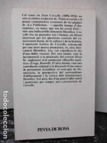 Libros de segunda mano: JOAN CREXELLS EN LA FILOSOFIA DEL NOUCENTS NORBERT BILBENY - Foto 18 - 160940894