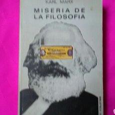 Libros de segunda mano: MISERIA DE LA FILOSOFIA . KARL MARX . ED.JÚCAR. Lote 161284014