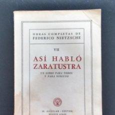 Libros de segunda mano: FEDERICO NIETZSCHE. OBRAS COMPLETAS VII. EDITORIAL AGUILAR. BUENOS AIRES, 1947.. Lote 162161482