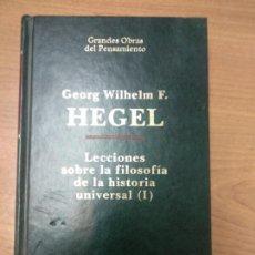Libros de segunda mano: LECCIONES SOBRE LA FILOSOFÍA DE LA HISTORIA UNIVERSAL (I Y II) - HEGEL, GEORG WILHELM F.. Lote 162369898