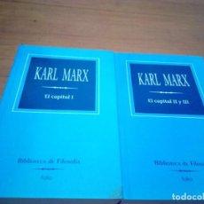 Libros de segunda mano: KARL MARX. EL CAPITAL I - II Y III. BIBLIOTECA DE FILOSOFÍA. FOLIO. EST12B4. Lote 162788554