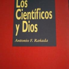 Libros de segunda mano: LOS CIENTÍFICOS Y DIOS. ANTONIO F. RAÑADA. BIBLIOTECA BÁSICA NOBEL 2. EDICIONES NOBEL AÑO 1994. RÚST. Lote 163074533