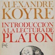 Libros de segunda mano: INTRODUCCIÓN A LA LECTURA DE PLATÓN. Lote 163084654