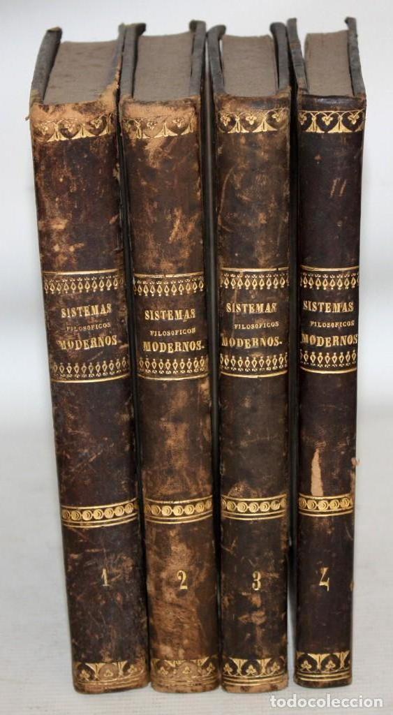 SISTEMAS FILOSOFICOS MODERNOS-PATRICIO AZCÁRATE-1861-4 TOMOS. (Libros de Segunda Mano - Pensamiento - Filosofía)