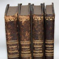 Libros de segunda mano: SISTEMAS FILOSOFICOS MODERNOS-PATRICIO AZCÁRATE-1861-4 TOMOS.. Lote 163804462