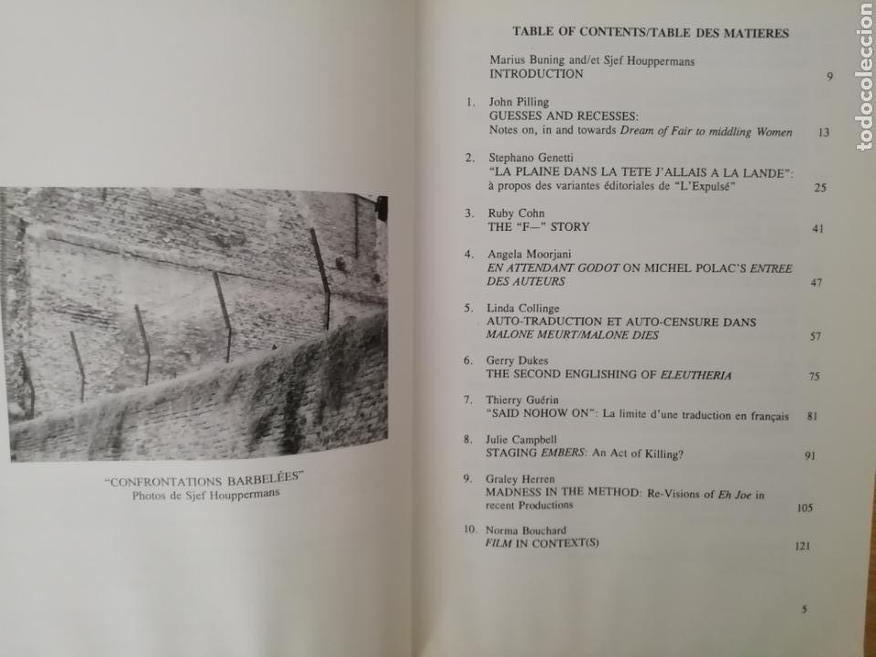 Libros de segunda mano: Beckett Versus Beckett. RAREZA. VV.AA. Rodopi, Amsterdam-Atlanta, GA 1998. - Foto 4 - 164917456