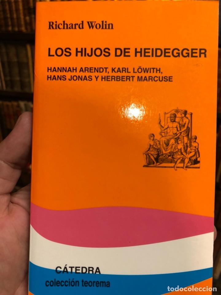 LOS HIJOS DE HEIDEGGER. WOLIN, RICHARD. HANNAH ARENDT. KARL LÖWITH, HANS JONAS Y HERBERT MARCUSE. (Libros de Segunda Mano - Pensamiento - Filosofía)