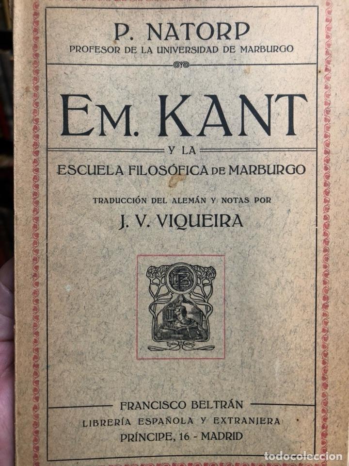 EM. KANT Y LA FILOSOFÍA DE MARBURGO.NATORP, P. MADRID: FRANCISCO BELTRÁN, 1928. 8VO. 67 PP. RÚSTICA. (Libros de Segunda Mano - Pensamiento - Filosofía)