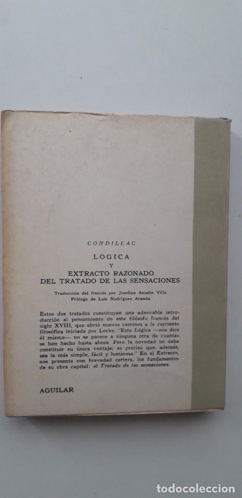Libros de segunda mano: LOGICA Y EXTRACTO RAZONADO DEL TRATADO DE LAS SENSACIONES - CONDILLAC - Foto 3 - 165338126