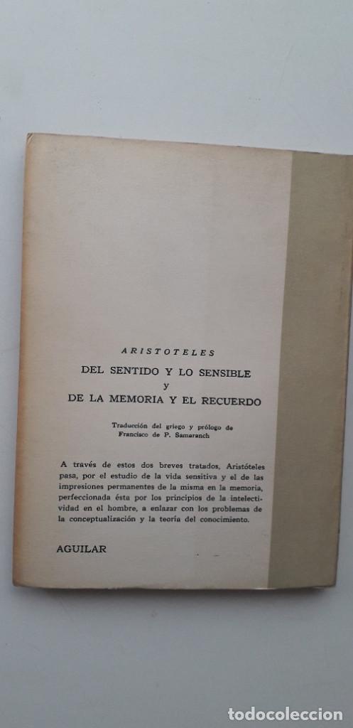 Libros de segunda mano: DEL SENTIDO Y LO SENSIBLE Y DE LA MEMORIA Y EL RECUERDO - ARISTÓTELES - Foto 3 - 165338258