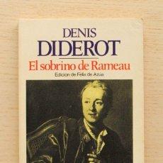 Libros de segunda mano: EL SOBRINO DE RAMEAU - DIDEROT, DENIS. Lote 165362690