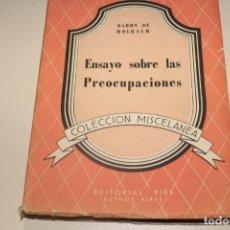 Libros de segunda mano: ENSAYO SOBRE LAS PREOCUPACIONES BARON DE HOLBACH. Lote 166069486