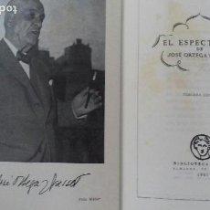 Libros de segunda mano: JOSE ORTEGA Y GASSET. EL ESPECTADOR.BIBLIOTECA NUEVA 1961. PIEL. CANTO SUPERIOR DORADO. 1100 PAGS.. Lote 166182110