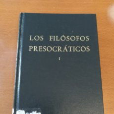 Gebrauchte Bücher - Los filósofos presocráticos I (Biblioteca clásica Gredos) - 166720102