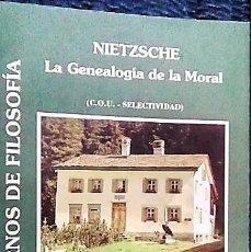 Libros de segunda mano: GENEALOGÍA DE LA MORAL (NIETZSCHE) PARA COU Y SELECTIVO DE CUADERNOS DE FILOSOFÍA. Lote 168102940