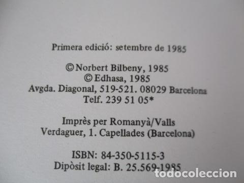 Libros de segunda mano: Filosofia contemporània a catalunya, de Norbert Bilbeny - Foto 6 - 168119876