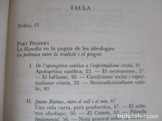 Libros de segunda mano: Filosofia contemporània a catalunya, de Norbert Bilbeny - Foto 7 - 168119876