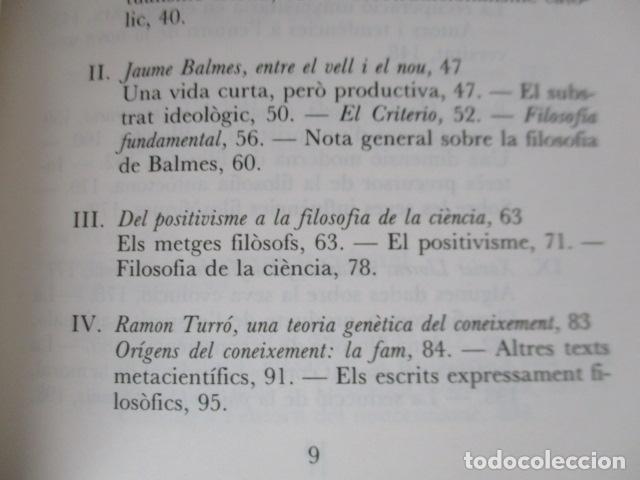 Libros de segunda mano: Filosofia contemporània a catalunya, de Norbert Bilbeny - Foto 8 - 168119876