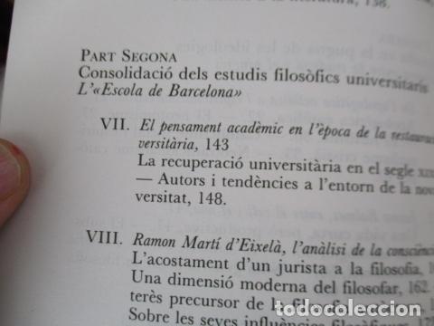 Libros de segunda mano: Filosofia contemporània a catalunya, de Norbert Bilbeny - Foto 9 - 168119876