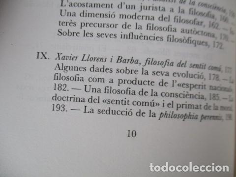 Libros de segunda mano: Filosofia contemporània a catalunya, de Norbert Bilbeny - Foto 10 - 168119876