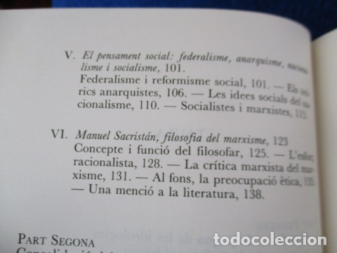 Libros de segunda mano: Filosofia contemporània a catalunya, de Norbert Bilbeny - Foto 11 - 168119876