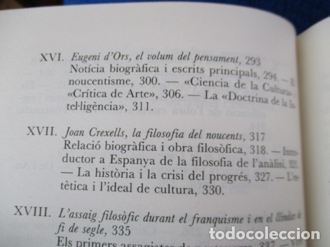 Libros de segunda mano: Filosofia contemporània a catalunya, de Norbert Bilbeny - Foto 14 - 168119876