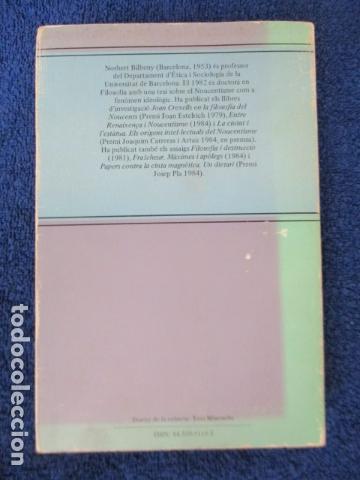 Libros de segunda mano: Filosofia contemporània a catalunya, de Norbert Bilbeny - Foto 19 - 168119876