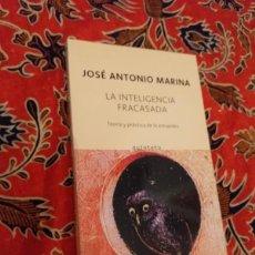 Libros de segunda mano: LA INTELIGENCIA FRACASADA - JOSE ANTONIO MARINA - QUINTETO 2008. Lote 168939068