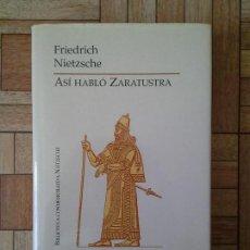 Libros de segunda mano: FRIEDRICH NIETZSCHE - ASÍ HABLÓ ZARATUSTRA. Lote 168947276
