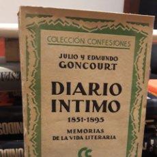 Libros de segunda mano: DIARIO INTIMO. Lote 169088226