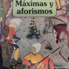 Libros de segunda mano: MÁXIMAS Y AFORISMOS KHALIL GIBRAN . Lote 169336428