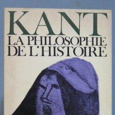 Libros de segunda mano: LA PHILOSOPHIE DE L'HISTOIRE. KANT. Lote 169453544