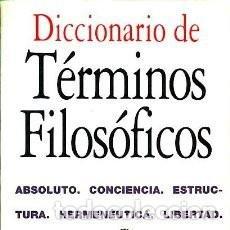 Libros de segunda mano: ROBERT, FRANÇOIS: DICCIONARIO DE TÉRMINOS FILOSÓFICOS (MADRID: ACENTO, 1994). Lote 170025132