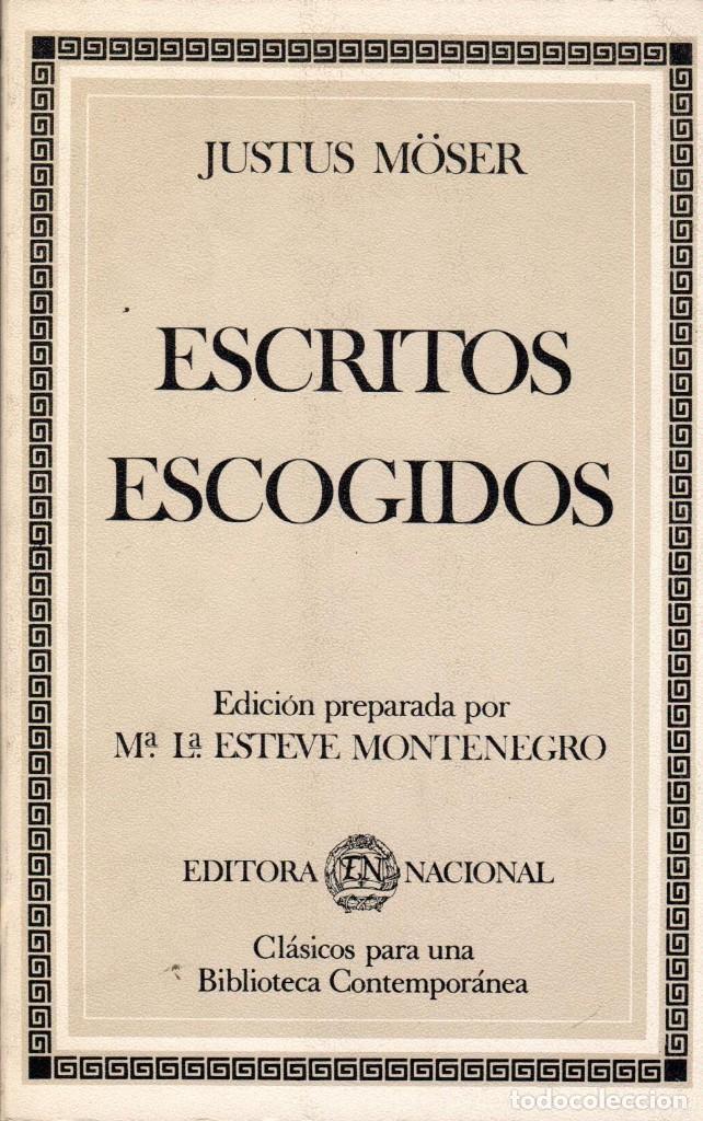 ESCRITOS ESCOGIDOS / JUSTUS MÖSER (Libros de Segunda Mano - Pensamiento - Filosofía)