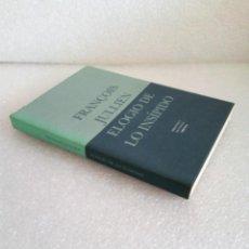 Libros de segunda mano: FRANÇOIS JULLIEN ELOGIO DE LO INSIPIDO A PARTIR DE LA ESTÉTICA Y DEL PENSAMIENTO CHINOS 1999 SIRUELA. Lote 170159028