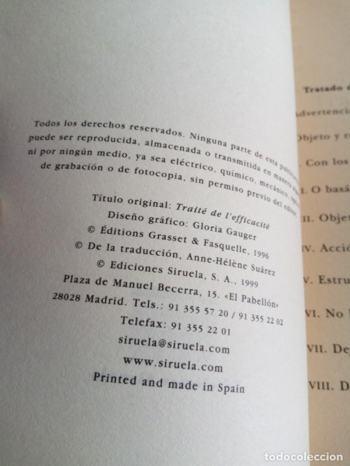 Libros de segunda mano: Tratado de la eficacia. François Jullien. Ensayo Siruela. stock libreria. - Foto 5 - 170159296