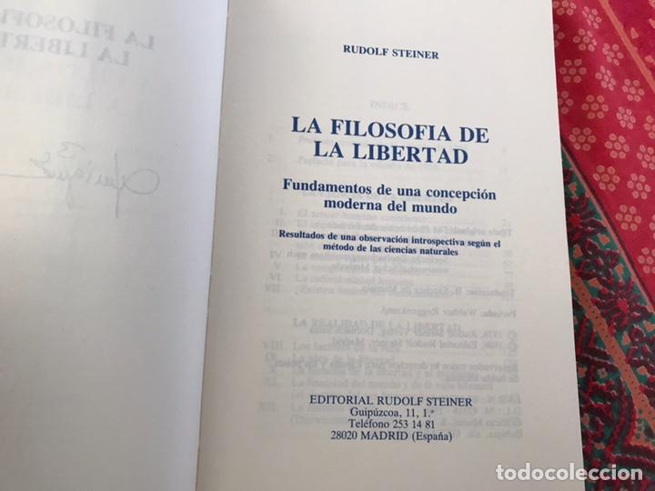 Libros de segunda mano: La filosofía de la libertad. Rudolf Steiner. Buen estado - Foto 2 - 170342333