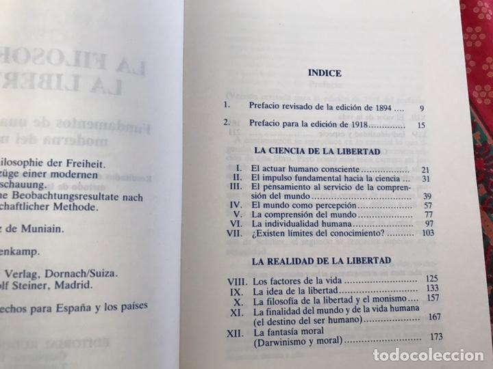 Libros de segunda mano: La filosofía de la libertad. Rudolf Steiner. Buen estado - Foto 3 - 170342333