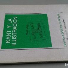 Libros de segunda mano: KANT Y LA ILUSTRACION/ NURIA VIVES/ / / CAJA 132 / . Lote 170971288