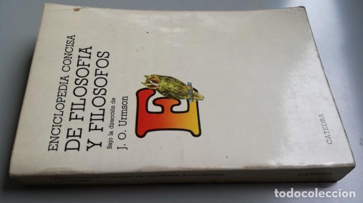 DE FILOSOFIA Y FILOSOFOS/ ENCICLOPEDIA CONCISA/ URMSON, J. O. (DIRECTOR)/ / CAJA 132 (Libros de Segunda Mano - Pensamiento - Filosofía)