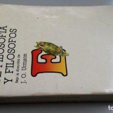 Libri di seconda mano: DE FILOSOFIA Y FILOSOFOS/ ENCICLOPEDIA CONCISA/ URMSON, J. O. (DIRECTOR)/ / CAJA 132. Lote 170976509