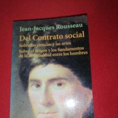 Livros em segunda mão: ROUSSEAU, DEL CONTRATO SOCIAL. Lote 170985992