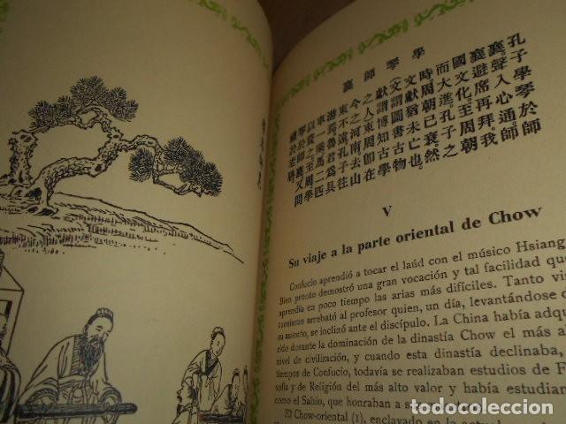 Libros de segunda mano: ESCENAS DE LA VIDA DE CONFUCIO - Foto 9 - 171619253