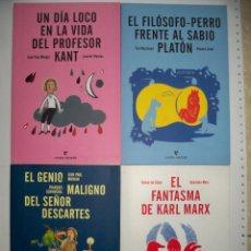 Libros de segunda mano: PEQUEÑOS PLATONES ERRATA NATURAE KANT DESCARTES KARL MARX FILOSOFO PLATON. Lote 172020048